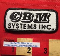 CBM Systems Inc. (possibly Claremont CA) ADVERTISING JACKET / SHIRT PATCH C63C