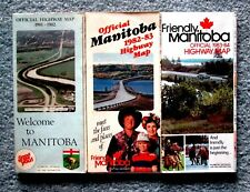 Manitoba Official Highway Maps Lot of 3 1981 - 1984 VG grc1