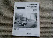 Panasonic Dvd/Video Cd/Cd Player Operating Instructions Rv10 Rv20 Rv30