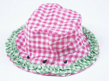 STARTING OUT NWT GIRLS INFANT HAT PINK GREEN WATERMELON SEEDS RUFFLES NEW