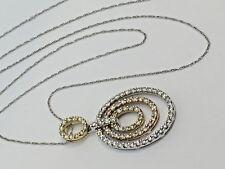 "14k Gold TuTone ""Circle of Life""- 84 Diamond Pendant w/ 18"" link chain 14k - #88"