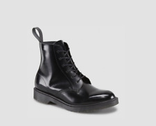 Dr Martens Arthur Made In England Black Boanil Brush Leather Boots US Size 8 US