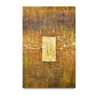 NY Art - 24x36 Ancient Monolith Abstract Original Oil Painting on Canvas - Sale!