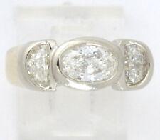 14k Yellow Gold VS Oval & Half Moon Diamond Wedding/Cocktail Ring 2.20ct