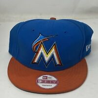 New Era Miami Marlins MLB Hat 9Fifty SnapBack Adjustable Adult Blue Orange