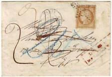 10 c SIEGE N° 36 obl Etoile lettre de Paris TAXE FRANCAISE 2 et ALLEMANDE 20 , R