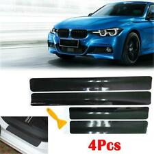 4PC 3D Carbon Fiber Texture Matte Black Vinyl Car Wrap Sticker Decal Film Sheet