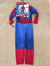 Spiderman Costume Large Kids 8-10 Rubies Muscle Chest Nwt 620045