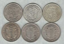 More details for six half crowns 1935 to 1967 in near extremely fine to near mint condition