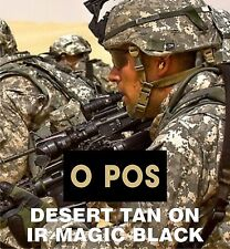 """O POS BLOOD TYPE TAN ON MB solasX IR PATCH 2"""" X 1"""" WITH VELCRO® BRAND FASTENER"""