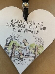 Winnie the Pooh Memories Wooden Heart hanging decoration sign plaque gift (3)
