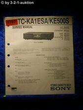 Sony Service Manual TC KA1ESA / KE500S Cassette Deck (#1797)