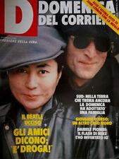 Domenica del Corriere 52 1979 Ultima foto John Lenon con la moglie. Irpinia C49