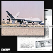 #CAP.096 Fiche Avion - GENERAL ATOMICS MQ-9 REAPER US AIR FORCE Photo à Kandahar