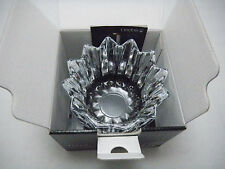 "Orrefors - Sweden 4 3/4"" Fleur Crystal Bowl- Signed New in Box Discontinued 2000"