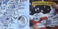 MDS USA 5 x USA STATE QUARTER SET 1999 IM FOLDER, COLORIERT