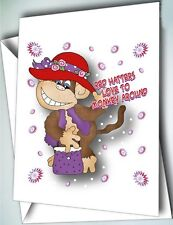 6 MONKEY AROUND cards w/ envelopes GREETING CARDS FOR RED HAT LADIES OF SOCIETY