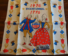 Vtg Parisian Prints Pure Linen Towel Bicentennial Tagged Made in USA Unused A+