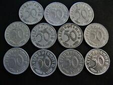 Deutsches Reich  11 x 50 Reichspfennig  1939 - 1943