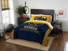 Buffalo Sabres - 3 Pc FULL / QUEEN SIZE Printed Comforter / Sham Set