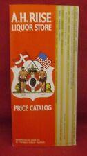 A.H. Riise Liquor Store 1967 Price Catalog St. Thomas Virgin Islands