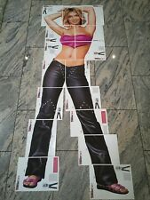 Britney Spears Original Bravo starschnitt Life Size Poster 90`s 2000`s * Rare *