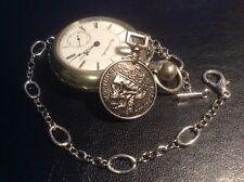 memento mori vanitas Style pocket watch chain Skull Death King Skull Coin fob