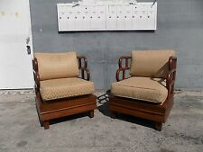 CHINOSIERIE HOLLYWOOD REGENCY LOUNGE CHAIRS FROM RALEIGH HOTEL MIAMI BEACH HOTEL