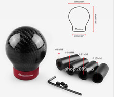 Real Carbon Fiber Car Manual Gear Shift Knob Shifter Straight For Universal Car