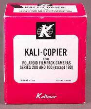 Kali-Copier for Polaroid Filmpack Cameras Series 200 and 100 except 180 Kalimar.