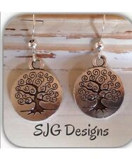 Tree Of Life - Large Earrings - Tibetan Silver