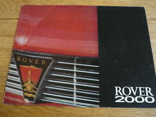 ROVER 2000 PRESTIGE, OVERSIZED CAR BROCHURE LATE 60's jm