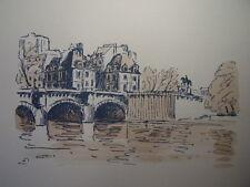 53 /  AQUARELLE PARIS / Le pont Neuf