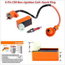 Motorcycle Racing 6 Pin CDI+Ignition Coil+Spark Plug for GY6 50cc-150cc Scooter