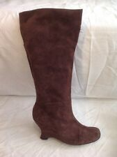 Ferrucci Brown Knee High Suede Boots Size 39