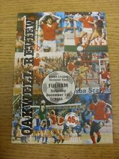 01/12/1984 Barnsley v Fulham  . Item appears to be in good condition unless prev