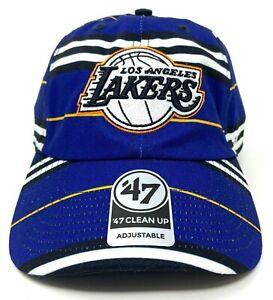 47 Brand Los Angeles Lakers Dad Hat Cap Adjustable Strapback Clean Up Basketball