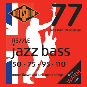 Rotosound Jazz Bass Monel Flatwound Heavy 4 String 50-110 RS77LE