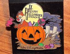 Disney WDW Chip Dale Pin Happy Halloween 2004 Trick or Treat LE Pumpkin