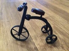 New Collectible Model Steel & Wood Penny Farthing Bicycle Bike Ornament Gift 9cm