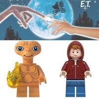 2x Minifiguren E.T Baukästen & Konstruktion Elliott Spielfiguren Einzelfiguren Disney Der Ausserirdische