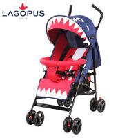 Baby Newborn Ultra-lightweight Folding Pram Pushchair Stroller Shark Blue