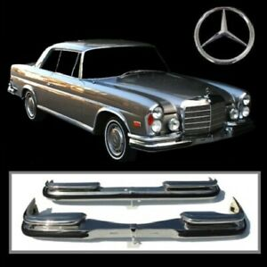 Brand new Mercedes W111 W112 280SE Coupe & Convertible Low Grille 3.5 Bumpers