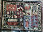 Ellen Stouffer Goodwin Weavers Vintage Noah's Ark Tapestry Throw Blanket 48 x 64