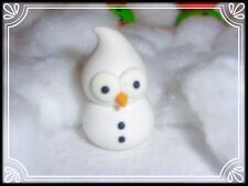 ** ~ Muñeco de nieve orbes Mascota-Hecho a Mano Fimo Llavero Espejo de Coche Colgante Fed ~ **