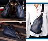 Mens Leather Messenger Shoulder School Bag Vintage Military Travel Satchel Bag