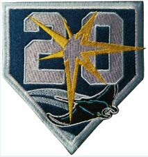 TAMPA BAY RAYS PATCH 20TH ANNIVERSARY TEAM STYLE JERSEY PATCH MLB WORLD SERIES