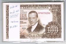 LOTE  50 BILLETES 100 PESETAS 1953 ROMERO TORRES Pick 145     EBC   XF