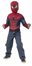 The Amazing Spiderman Muscle Chest Shirt Mask Spider Man Muscles Small Ages 4+