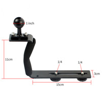 DSLR Camera Underwater Diving Video Photography Camera Handle Arm Base Tray
